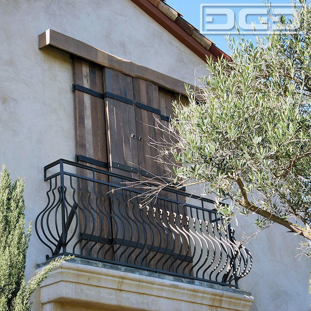 Architectural Sliding Barn Doors for a Tuscan Balcony traditional