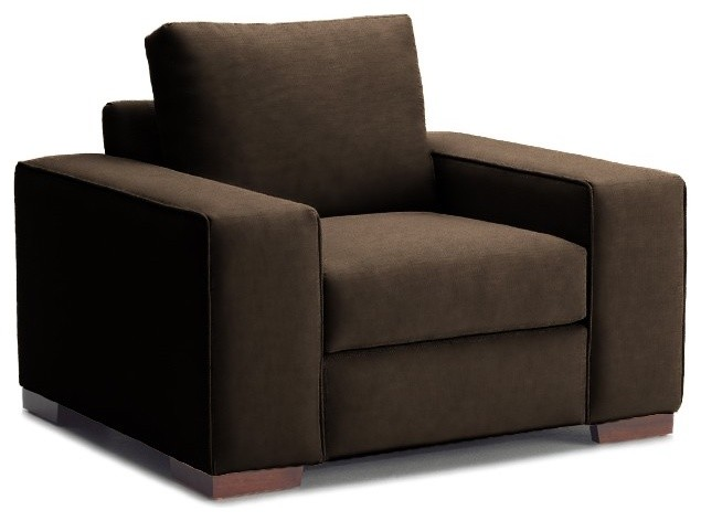Melrose Place Wide Arm Chair, Chocolate, 45x39x27 modern-armchairs-and-accent-chairs