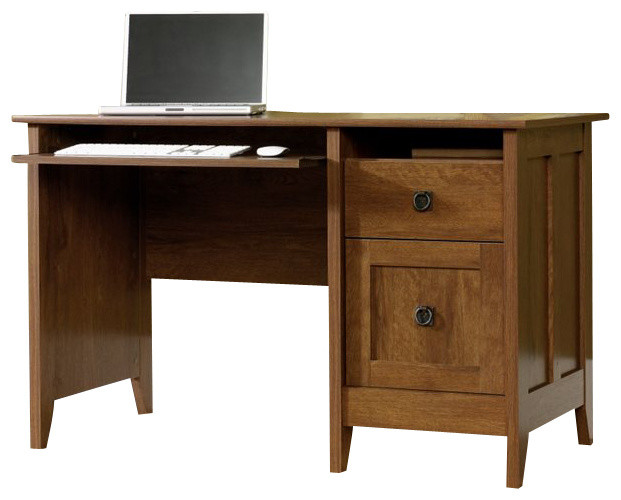 Sauder August Hill Computer Desk In Oiled Oak