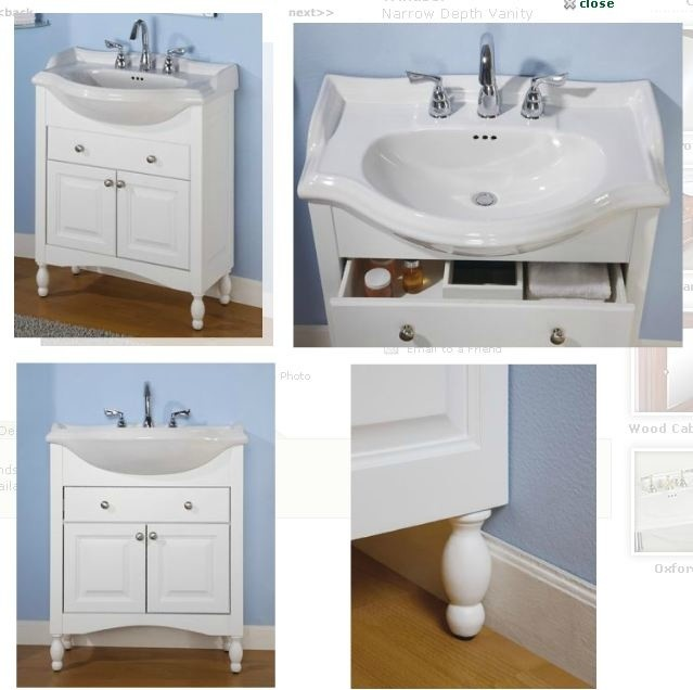 Sink And Vanity Empire Windsor Narrow Depth Vanity With Savoy Ceramic Top Wh