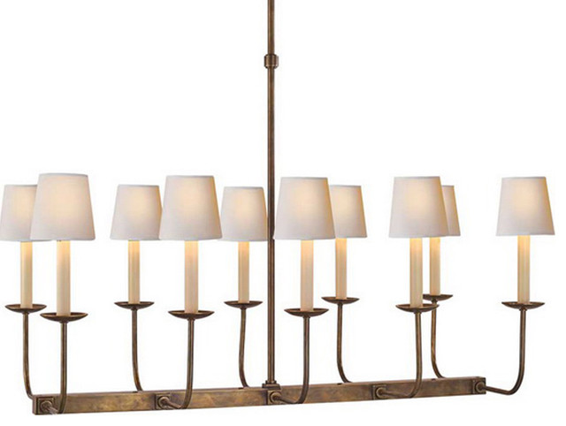 Tt Linear Branched 10 Light Chandelier Contemporary