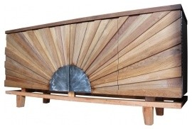 Spectacular Sunburst Front Sideboard contemporary buffets and sideboards