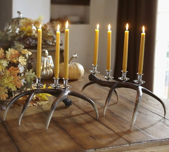 Faux Antler Candelabra Eclectic Candleholders By