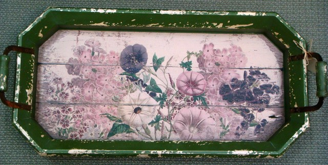 Floral Garden Tray eclectic-home-decor