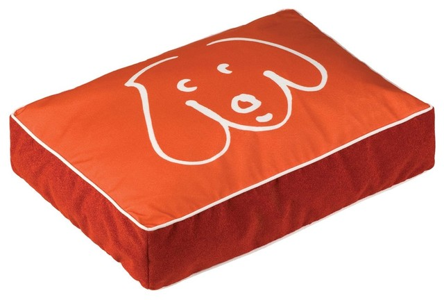 Crypton Doodle Dog Pet Bed - Persimmon contemporary pet accessories