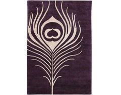 Thomas Paul Rugs Feather in Plum and Cream modern rugs