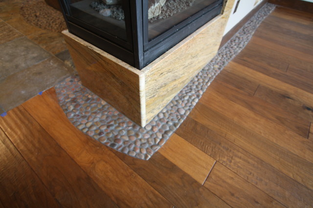 River Rock Tile Accent Rustic Accent Trim And Border
