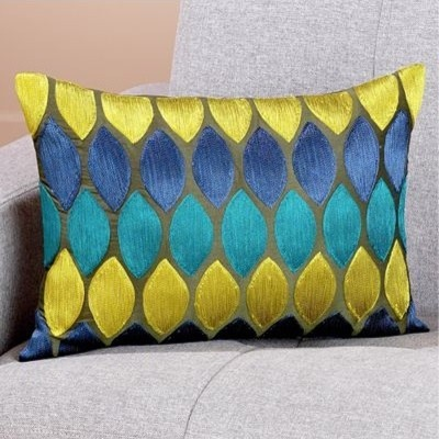 Cool Tones Geometric Toss Pillow eclectic pillows