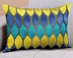 Cool Tones Geometric Toss Pillow eclectic-pillows