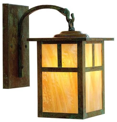 Mission Arched Arm Outdoor Wall Sconce - Modern - Outdoor Lighting - by Lumens