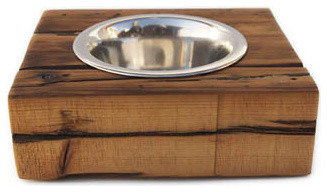 Urban Driftwood Dog Bowl modern-pet-bowls-and-feeding