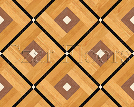 Parquet Floors Collection - Parquet. Available in different woods such as Plainsawn White Oak, Plainsawn Red Oak, Rift/Quartered White Oak, Santos Mahogany, Quartered White Oak, White Maple, American or Brazilian Cherry, Ipe and Walnut. Additional species are available. Thickness: 3/4 in. solid wood.  Parquet is installed glue-down on plywood or concrete sub floors. Parquet is supplied unfinished, fully assembled modules.