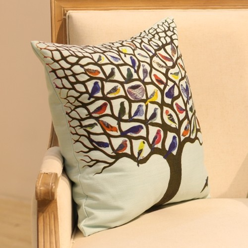 Use And Throw Pillow Covers : Birds on Tree Cushion Throw Pillow Cover Melody - Rustic - Decorative Pillows - other metro - by ...