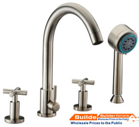 Dawn Tub Filler Tub Filler with Personal Handshower and Handle D03 2503BN modern