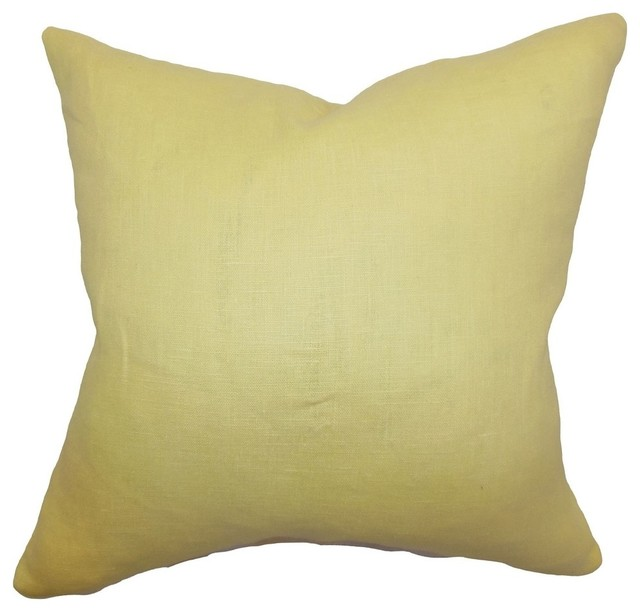 Throw Pillows Pictures : Idalya Plain Pillow Canary 20