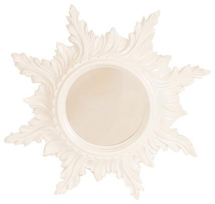 White Starburst Mirror modern-wall-mirrors
