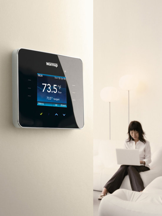 Warmup 3iE thermostat - The new 3iE™ GFCI energy monitoring thermostat from Warmup! With touch technology, enhanced features, an attractive design and energy monitoring, it truly is in a league of its own.