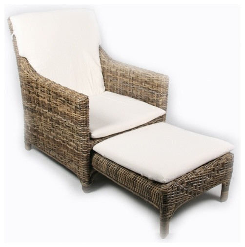 Rattan Lounge Chair contemporary-outdoor-lounge-chairs