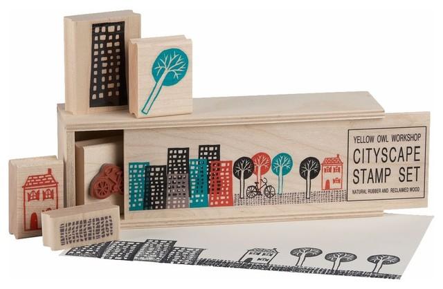 CB2 - Cityscape Stamps (Set of 5) kids-toys