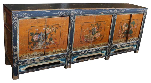Vintage Asian Reproduction Cabinet - Asian - Buffets And ...