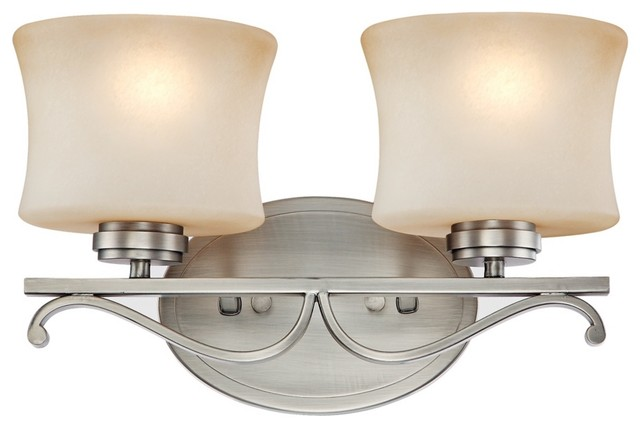 Traditional Aube Collection Pewter 14 1 2 Wide Bathroom Light Fixture