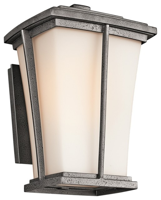 "Arts and Crafts - Mission Kichler Brockton Collection 13"" High Outdoor Wall traditional-outdoor-lighting"