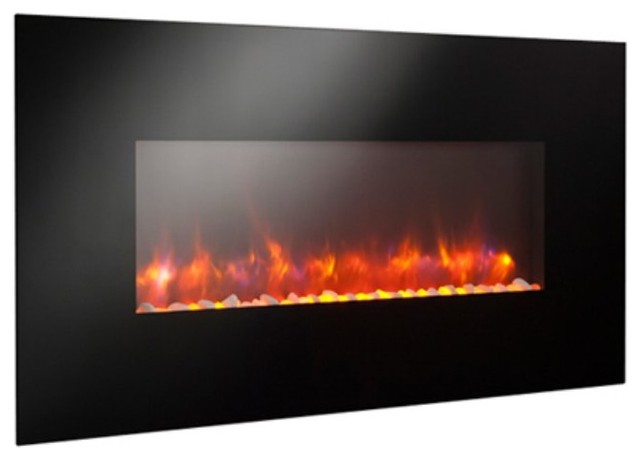 GreatCo Gallery Linear Electric LED Fireplace - 50 in. Multicolor - GE-50 contemporary-indoor-fireplaces