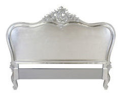 French Silver Leaf 6ft Super King Size Headboard Boudoir Shabby Chic, | eBay -