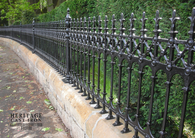 Heritage Cast Iron USA Stewart Half Height Railings traditional-home-fencing-and-gates