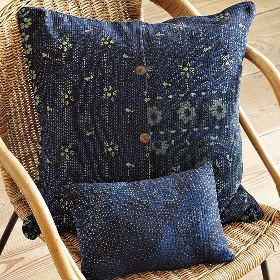 New Kantha Quilted Pillow modern-decorative-pillows