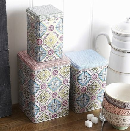 Square Graphis Storage Tins contemporary-food-containers-and-storage
