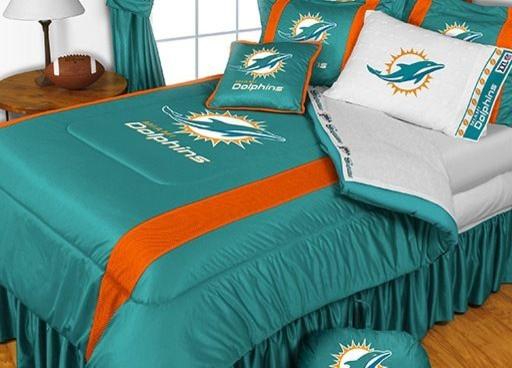 Miami Dolphins Queen Size Bedding Set