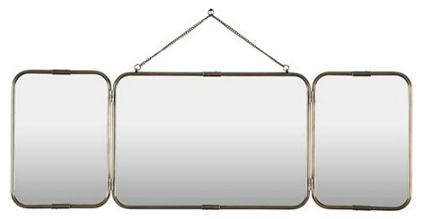 Tri Fold Vanity Mirror Contemporary Mirrors By