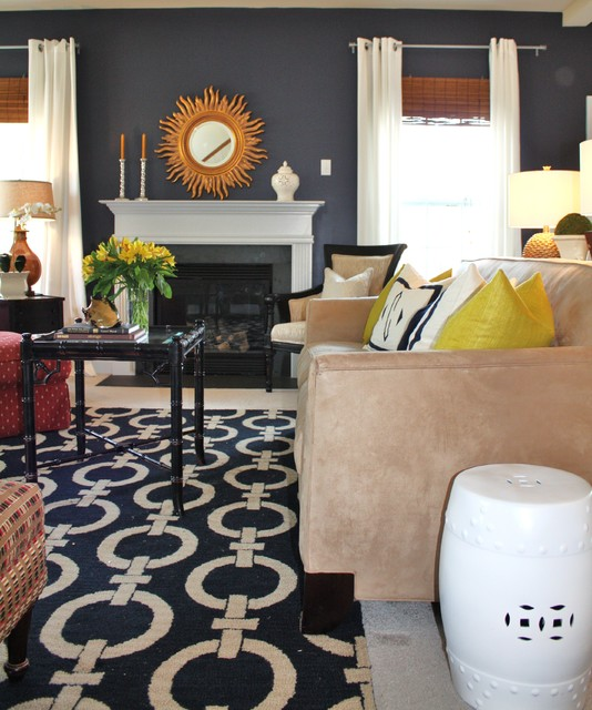 Navy Family Room eclectic-family-room