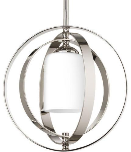 Thomasville Lighting P7077 Equinox 1 Light Foyer Pendant with Cylinder Shade transitional-pendant-lighting