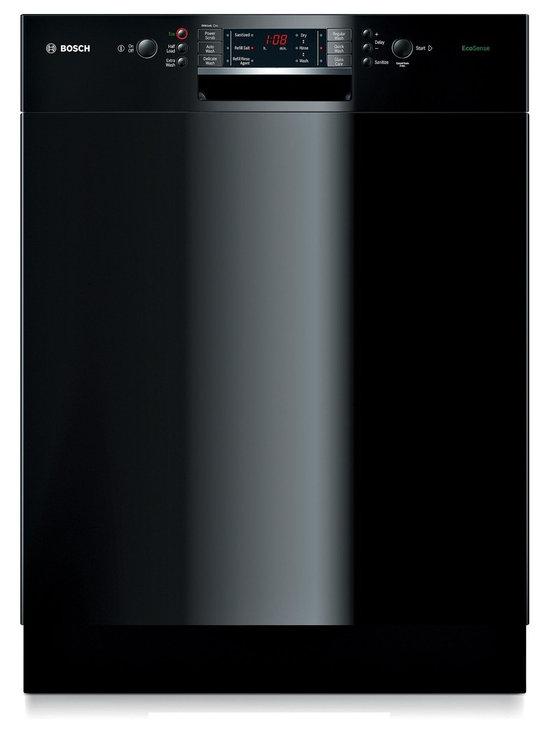 "Bosch 24"" Recessed Handle Special Application Dishwasher, Black | SGE63E06UC - ECOSENSE™ WASH SENSOR"