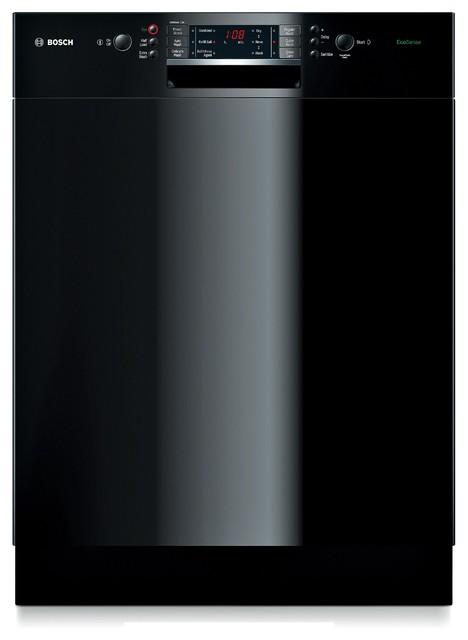 bosch 24 recessed handle special application dishwasher black sge63e06uc dishwashers los. Black Bedroom Furniture Sets. Home Design Ideas