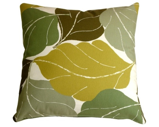 Pillow Decor - Pillow Decor - Autumn Leaves 20 x 20 Green Throw Pillow - Add bold color and nature to your decor with the Fallen Leaves Decorative Throw Pillow in Green. The multiple shades of Green in this pillow are equally balanced, giving you the flexibility to pull together several similar accent colors within your space.