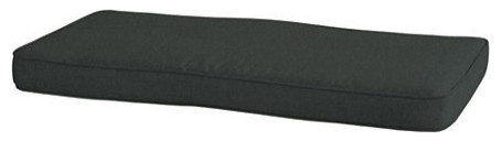 Outdoor Bench Cushion with Box Edge Welts - U traditional-outdoor-cushions-and-pillows