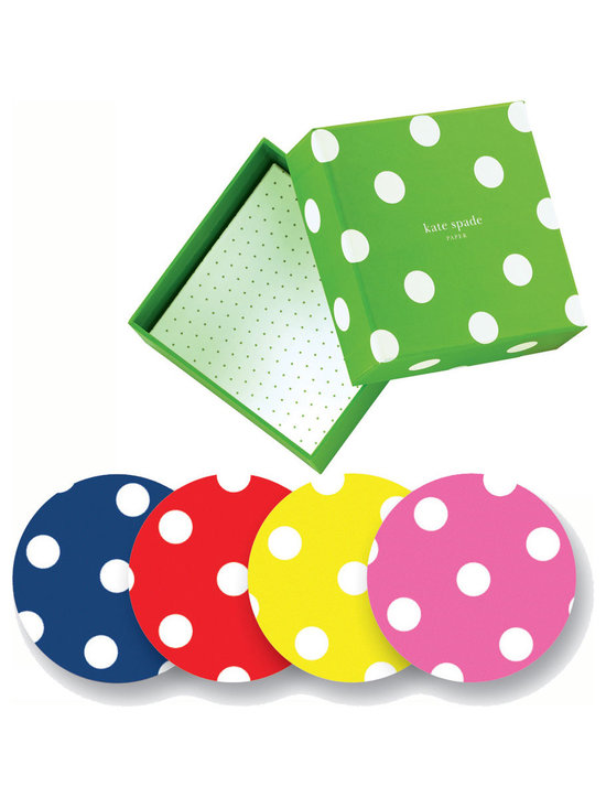 kate spade polka dot coasters - Set of 8 -