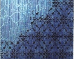 Vintage Blue Rug contemporary-rugs