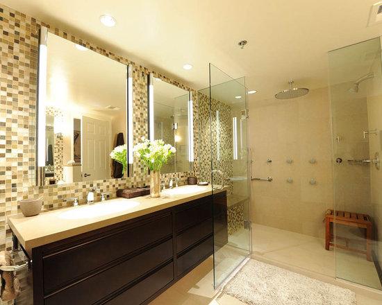 Modern Bath with ProLine Drain -
