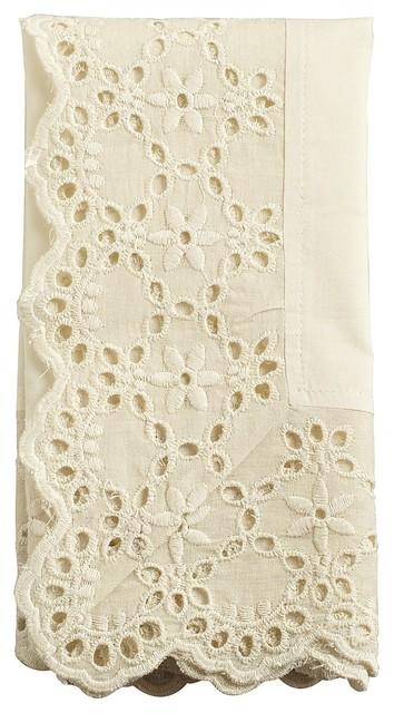 Ivory Lace Napkin contemporary-napkins