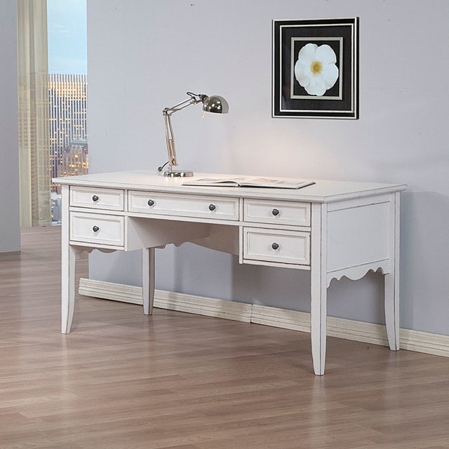 White Classics Writing Desk Contemporary Desks And