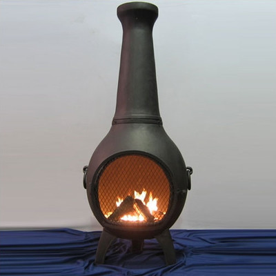 The Blue Rooster Prairie Chiminea Outdoor Fireplace