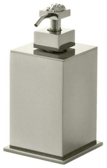 Versace Unique Chrome Liquid Soap Dispenser Modern