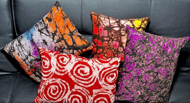 Batik Printed Pillows eclectic-decorative-pillows