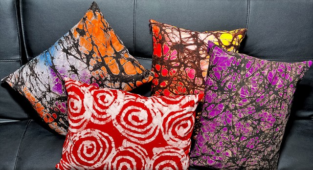 Batik Printed Pillows eclectic pillows