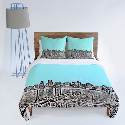 DENY Designs Bird Ave Portland Ice Duvet Cover modern-duvet-covers-and-duvet-sets