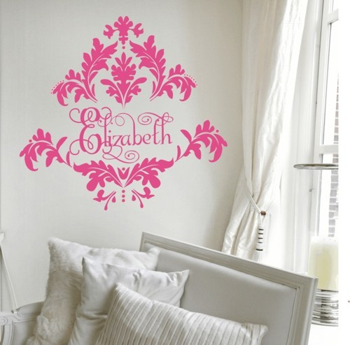 Tres Chic Damask Wall Decal modern-kids-wall-decor